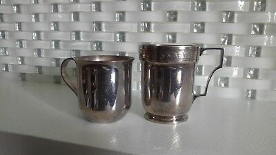 Antique Silver Mappin & Webb Ltd London Sheffield & E.P.N.S England Baby Cups