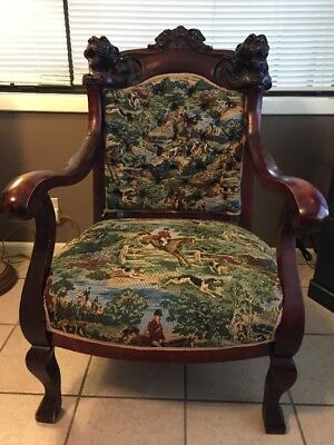 Rare Antique Chair; Maybe Precivil War; Solid Handcarved Wood; Beautiful; Unique