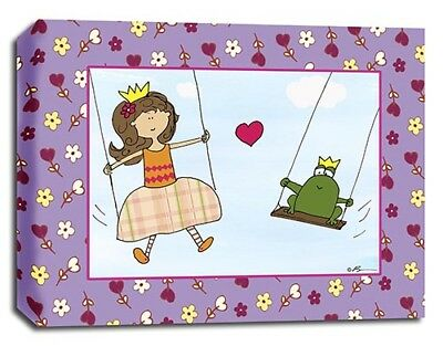 Princess & Frog, Prints or Canvas Wall Art Decor, Kids Bedroom Baby Nursery