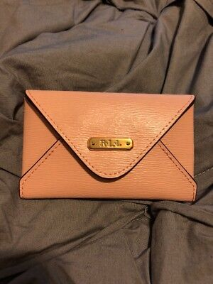 Ralph Lauren Pink Leather Credit Card ID Case NWT!
