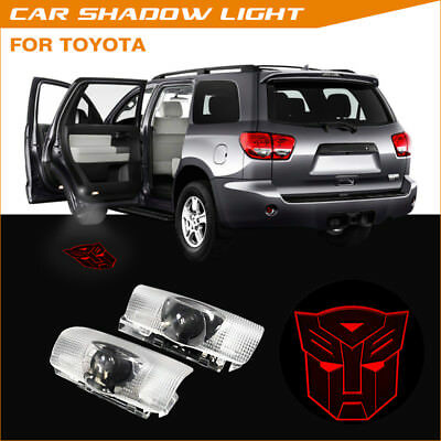 Car Door Transformers Autobot Logo Projector Laser Ghost Shadow Light For Toyota