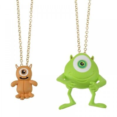 New Disney Store Japan Necklace Mike & Little Mikey F/S