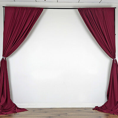 BURGUNDY 10 x 10 ft Polyester BACKDROP CURTAINS Drapes Panels Home Decorations