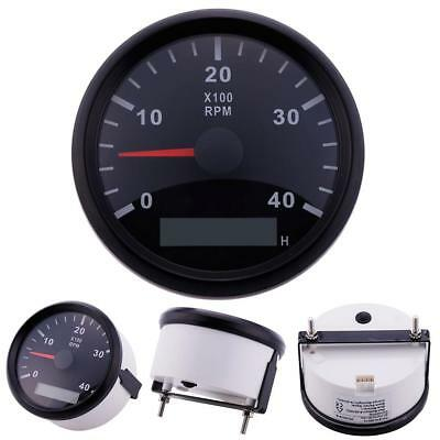 Good Marine RPM Tachometer Gauge WEMA LCD Tacho Hour Meter 0-4000 RPM 85mm CA#01