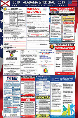 2019 Alabama State and Federal Labor Law Laminated Poster PREORDER