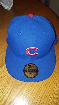 00a68876e2a CHICAGO CUBS WHEAT Flax Grey Under-Visor MLB New Era 59Fifty Fitted ...