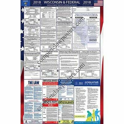 2019 Wisconsin and Federal Laminated Labor Law Poster PREORDER