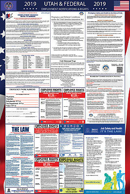2019 Utah and Federal Laminated Labor Law Poster PREORDER