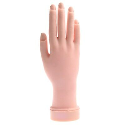 Movable Soft Practice Hand For Nail Art Training Tips A8S1