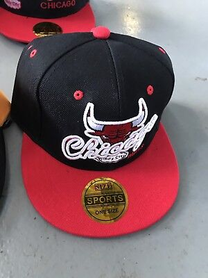 Chicago Bulls Snapback Hats, One Size Fits All