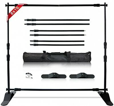 T-Sign 10'x8' Professional Step And Repeat Backdrop Banner Stand Large Tube For