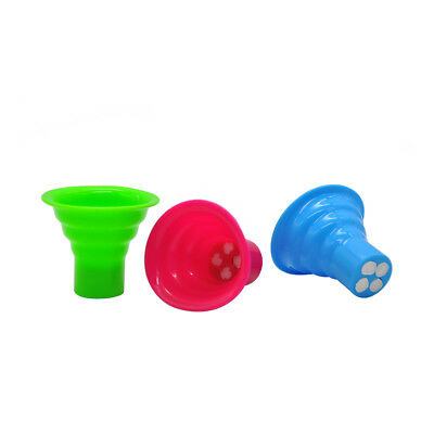 3 X Silicone Smoking MouthTips for Pipe Smoke Accessories.Color Random