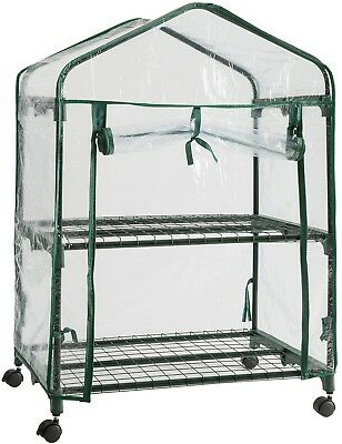 DOEWORKS 3 Tier Portable Plant Greenhouse With PE Cover, Indoor Outdoor Garden