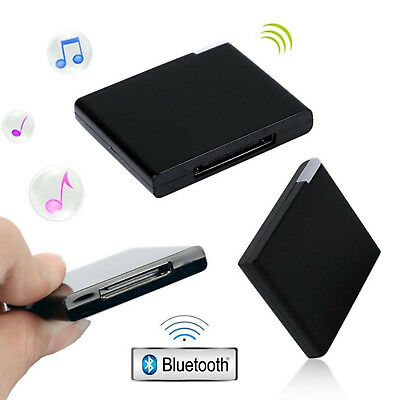 30 Pin Bluetooth Dock Adapter Wireless Musik Audio Receiver iPad iPhone iPod