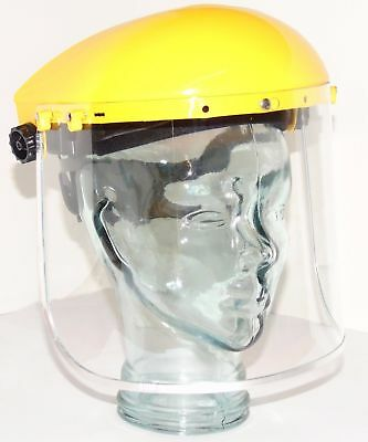 Clear Flip Up Face Shield Screen Full Wide Visor Safety Mask Eye Guard Protector