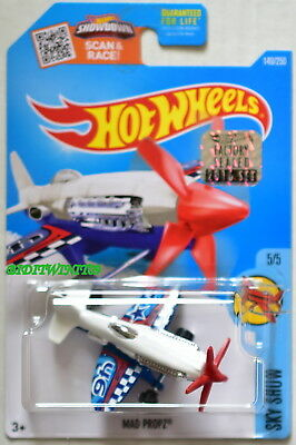 HOT WHEELS 2016 SKY SHOW #5//5 MAD PROPZ WHITE