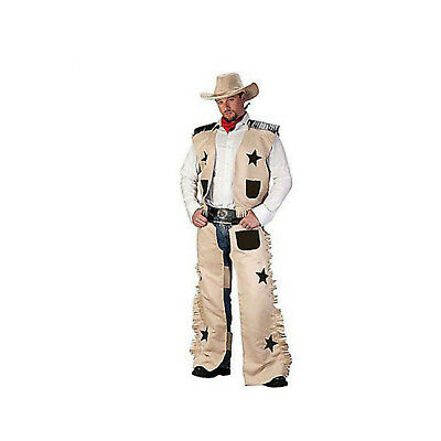Men's COWBOY Costume Wild West Sheriff Texas Rodeo Fancy Dress Deputy Outback