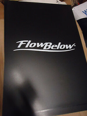 """Pair of FlowBelow 16"""" x 24"""" Tractor Trailer Mud Flaps Hard Rubber Drilled"""