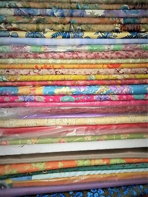 Lot Of 50 Unsticted Cloth For Ladies Kurties - 2.5 Meter (250Cm)