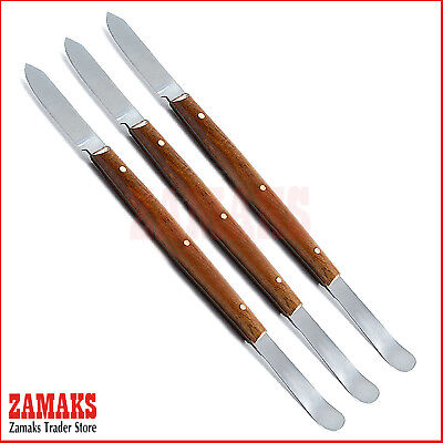 Set Of 3 Fahnestock Wax Carving Knife Large Modeling Dental Laboratory Tools