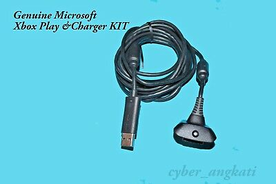 Original Microsoft Xbox 360 Play & Charger Kit Cable Only  for Xbox 360 Console