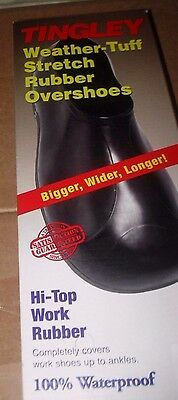 TINGLEY Hi-Top Work Rubber 100% Waterproof Overshoes Black 3XL  NEW