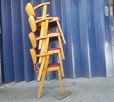 1950's Chairs/vintage Stacking Chairs/1960's Chairs/vintage Industrial Chairs
