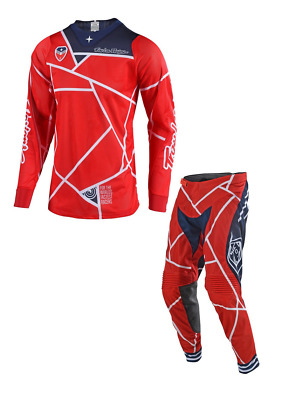 New 2018 Adult Troy Lee Designs SE Air Jersey Pant Kit 18.1 Metric Red Navy