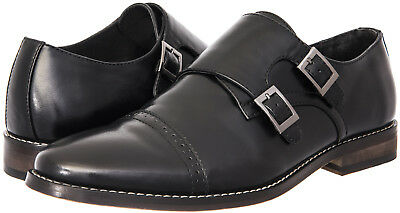 J's.o.l.e Men Dress Shoes Leather Lined Monk Buckle Oxford Latex Footbed