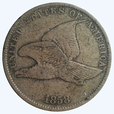 1858 1C Large Letters Flying Eagle Cent