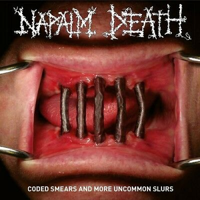 "Napalm Death ""Coded Smears And More Uncommon Slurs"" Gatefold RED 2LP&LP-Booklet"