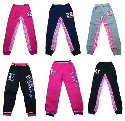 Girls Kids  Jogging Tracksuit Bottoms Trousers Age 2-12