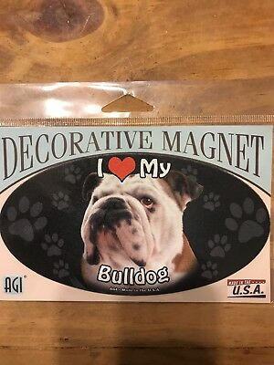 Pet Car Magnet, I Love My Bulldog