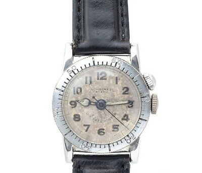 RARE! LONGINES Weems 1940's American Military Pilot vintage Watch Japan Import