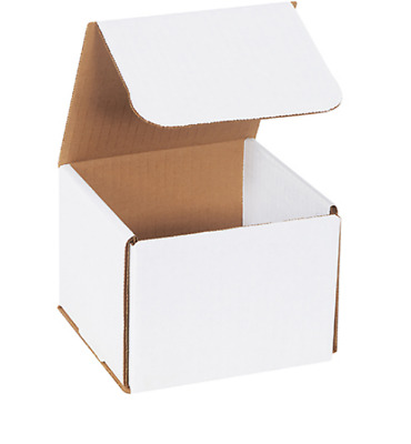"1-500 CHOOSE QUANTITY 5x5x5 Corrugated White Mailers Packing Boxes 5"" x 5"" x 5"""