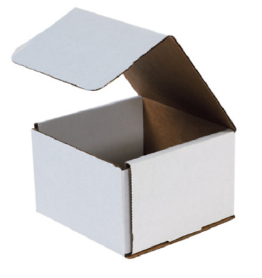 "1-500 CHOOSE QUANTITY 6x6x4 Corrugated White Mailers Packing Boxes 6"" x 6"" x 4"""