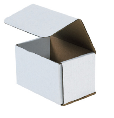 1-500 CHOOSE QUANTITY 5.5 x 3.5 x 3.5 Corrugated White Mailers Packing Boxes