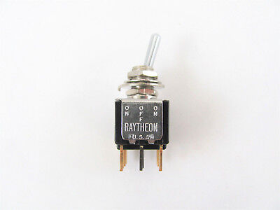 (2x) 4PDT Toggle Switch - ON-OFF-ON - Raytheon 405P2