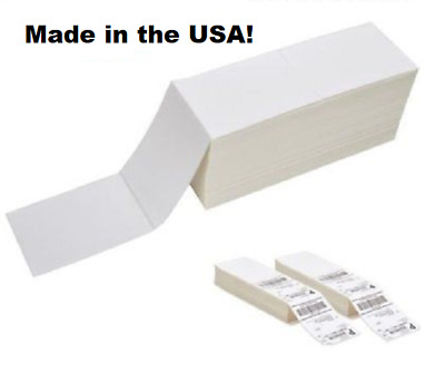 5 SAMPLE LABELS 4x6 Fanfold Direct Thermal Labels Perforated Shipping