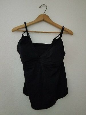 liz lange target maternity swimsuit tankini large black pregnancy spring break