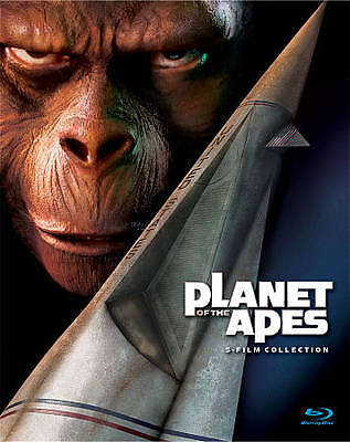 Planet of the Apes: 5-Film Collection [Blu-ray] (Standard, Non-Oversized Blu-ray