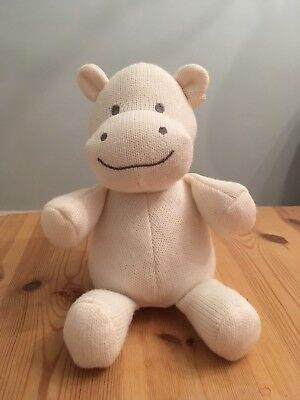 MOTHERCARE SOFT CREAM knitted hippo soft toy - brand new - comforter ...