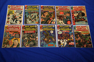 SGT FURY and his Howling Commandos Silver Age 10-Comic Lot #12-45 Marvel KEY
