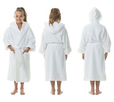 KID 100% Cotton Terry Towelling Bath Robe 300gsm 5-7 YEAR 10-12 YEAR