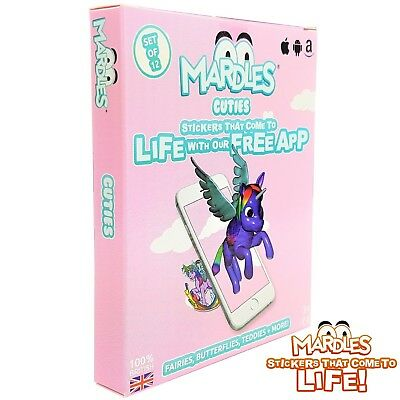 MARDLES Cuties stickers that come to life with FREE app 12 reusable stickers