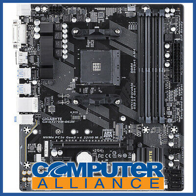 Gigabyte AM4 MicroATX GA-AX370M-DS3H DDR4 Motherboard