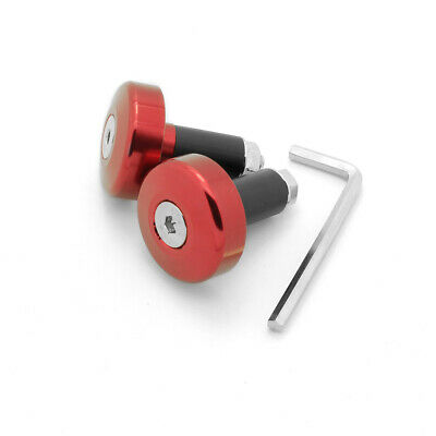 Motorcycle Slim Style Bar End Ends Weights Anodised RED 13mm Inner 22mm Bars | N