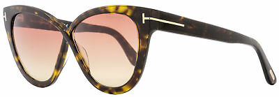 92ec9ae7f53 Tom Ford Butterfly Sunglasses TF511 Arabella 52B Dark Havana Gold FT0511