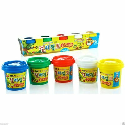 Amos Color Clay 3000 5 Colors 70g Soft Light Clay Modelling Toy Plasticine DIY