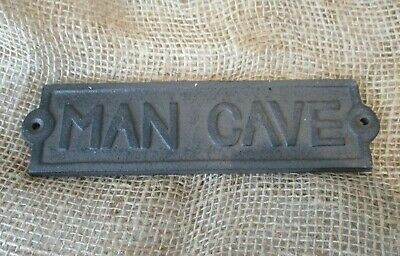 Rustic Cast Iron Washroom Sign Gas Station Bar Pub Bathroom Plaque Wall Decor